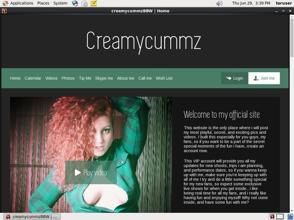 Creamycummz.com With Master Card