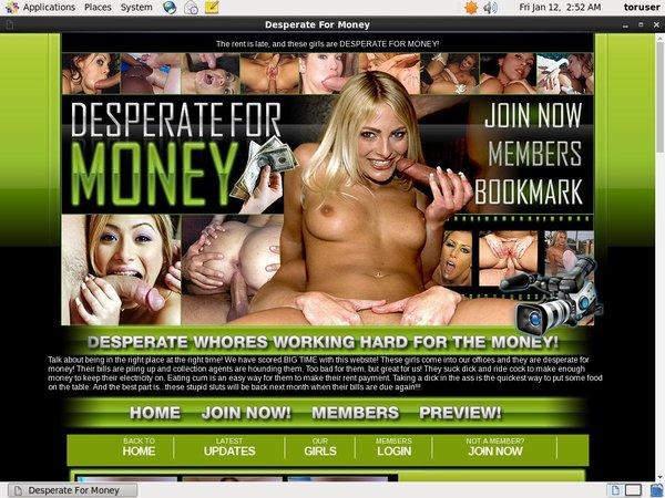 Free Account In Desperateformoney.com