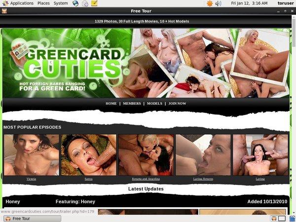Green Card Cuties Mobile Passwords