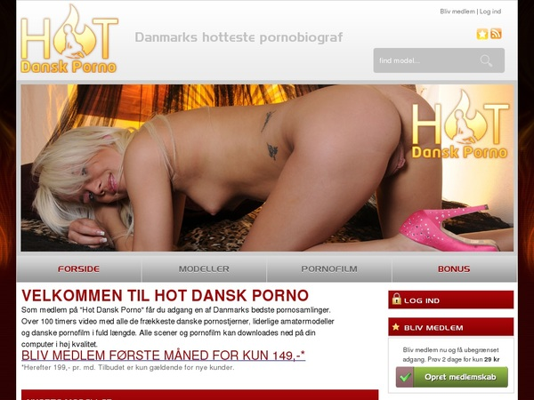 Hotdanskporno.dk Model List