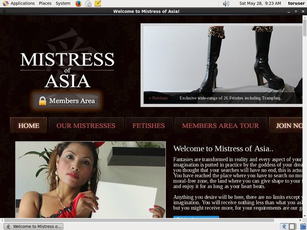 New Mistress Of Asia Discount