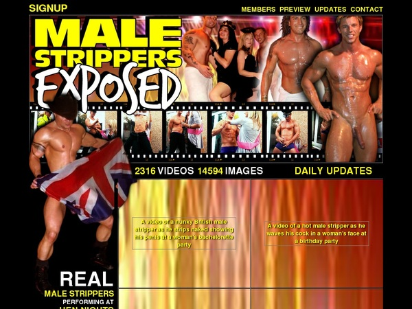 Cracked Male Strippers Exposed Account