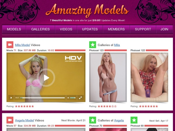 Pay For Amazing Models
