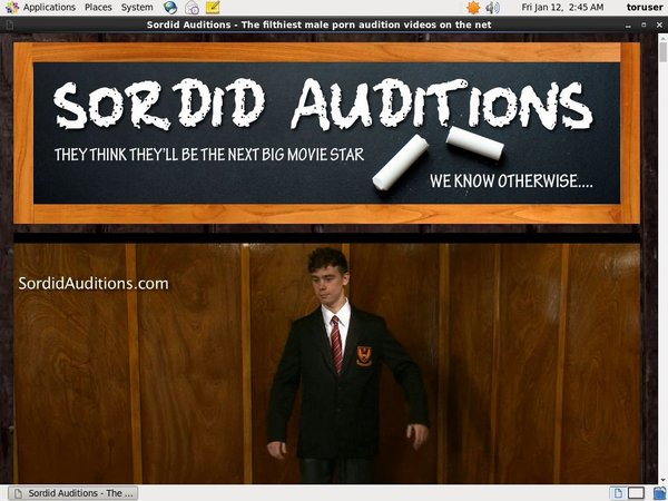 Sordid Auditions Discount Order